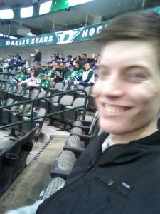 Dano at the hockey game! Go Stars!