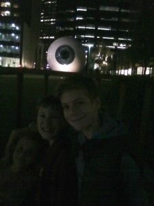 The eye in Dallas...creepy, but Christopherd, Jamsey and Clairebear love it! :D