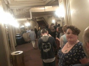 Lineup to see Titus afterwards. Long, but worth it! :D