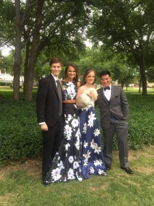 dan and anna and anna-catharine and lorenzo ths prom 2017