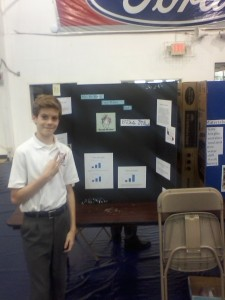 Chris at the Science Fair!