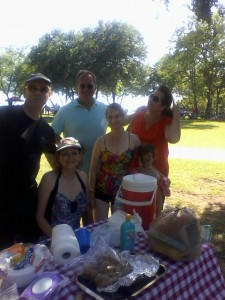 Jeanna & Claire with the Cyrs and Gaglianos at Joe Pool Lake